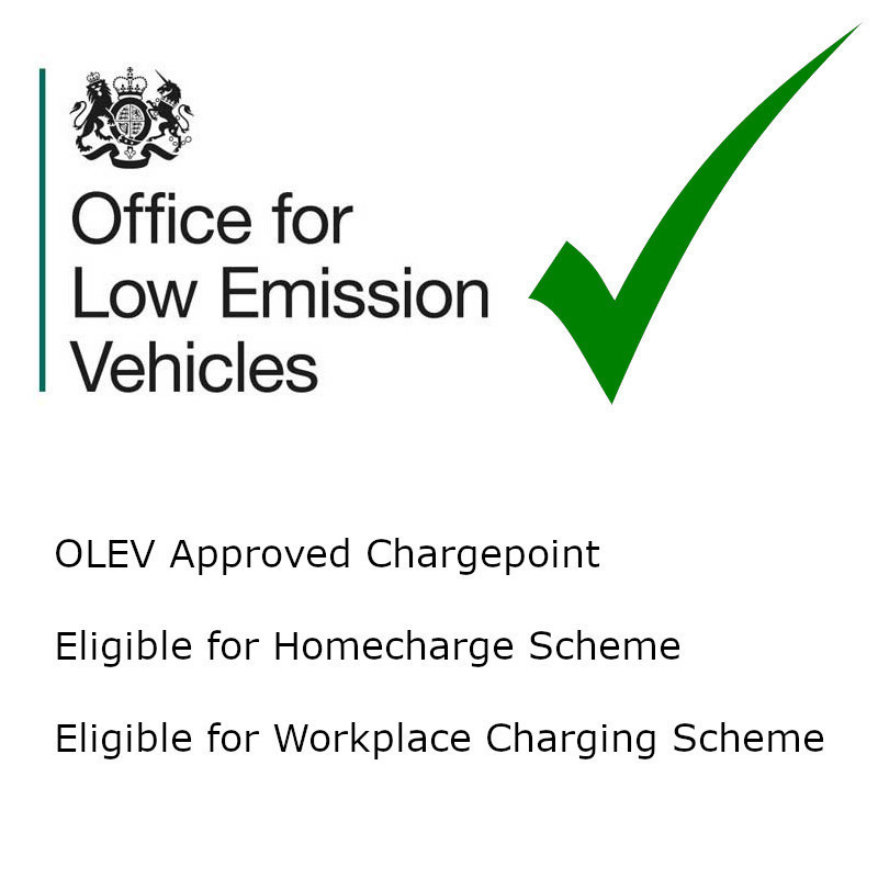 OLEV Approved Chargepoint - Eligible for Homecharge and Workplace Charging Schemes